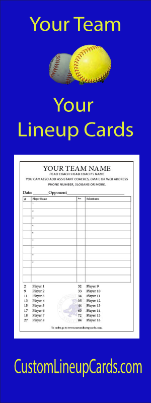 Your team, your lineup cards.  Custom Lineup Cards dot com.